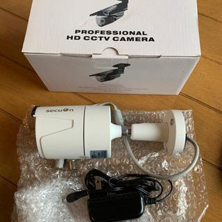 未使用 AHD広角監視カメラ2台 100万画素保管品