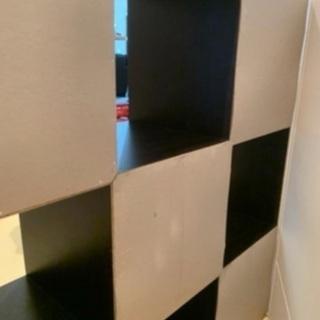 棚 スクエア ディスプレイラック 木製の画像