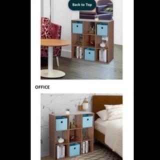 棚 スクエア ディスプレイラック 木製 - 家具