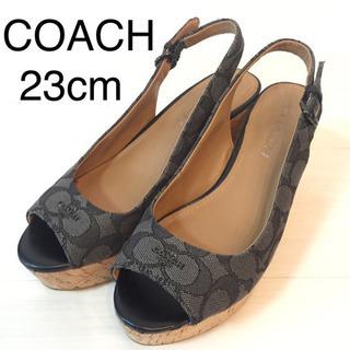 コーチ COACH ウェッジソールサンダル 23cm