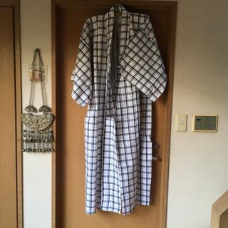 寝巻き用の浴衣 ほぼ新品 Lサイズ? チェック柄 ※帯紐の…
