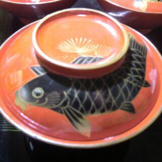蓋つき碗 鯉の蒔絵 ①/3