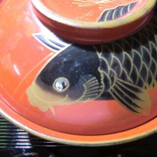 【骨董】蓋つき碗 鯉の蒔絵 ②/3 - 豊島区