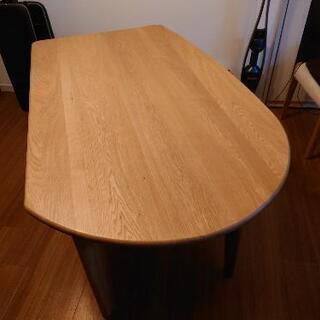【値下げ中】総無垢 オーク材 ダイニングテーブル 20万 150cm