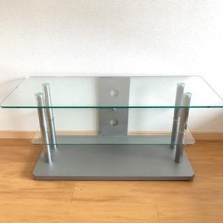 強化ガラス AVラック テレビラック テレビ台 全幅100…