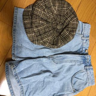 帽子とショットパンツ