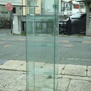 ①ガラス製 ショーケース 三段 スリム 高さ163.5㎝ コレク...