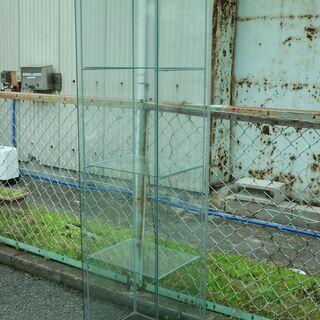 ②ガラス製 ショーケース 三段 スリム 高さ163.5㎝ コレク...