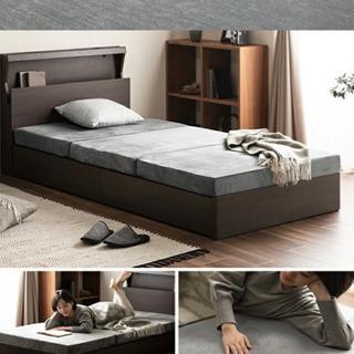マットレス シングルベッド用マットレス 折り畳み 厚さ10センチ...