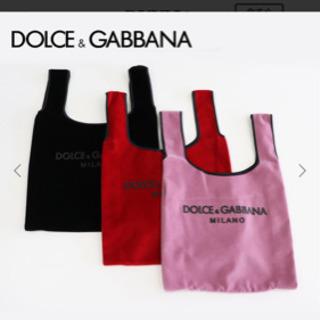 D&G ベロアマーケットバッグ ピンク