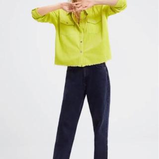 【ネット決済】シャツ リブ トップス コーデュロイ オーバーサイズ