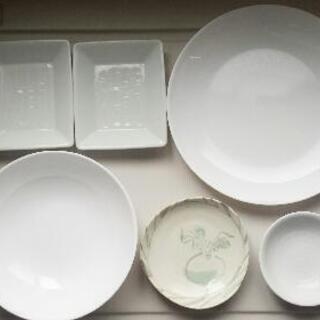 【ネット決済】ホワイト食器、陶器(6点まとめて)
