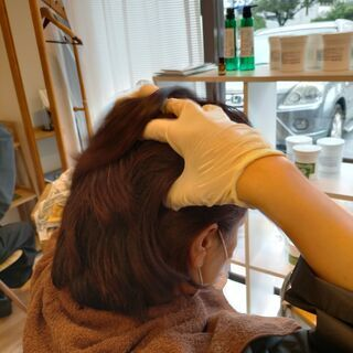 まだ間に合います‼100%県産ヘナの白髪染めで楽染め❤手袋のみで...