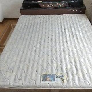 無料 フランスベッド製 ダブルベッド 収納付き 高密度スプリング仕様