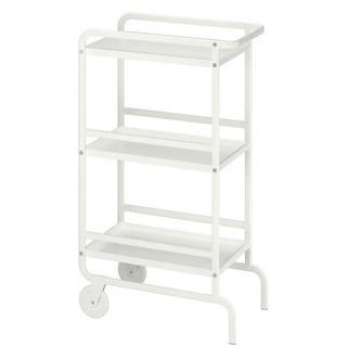 IKEA イケア キッチンワゴン 収納 ホワイト 棚