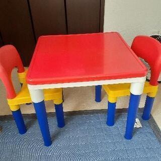 【ネット決済】子供用 椅子机三点セット