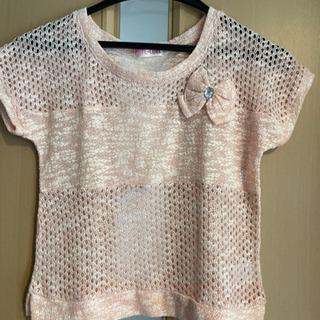 女児150cm 編みシャツ