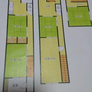 戸建て 6LDK 5.4万 仲町 駐車場2台