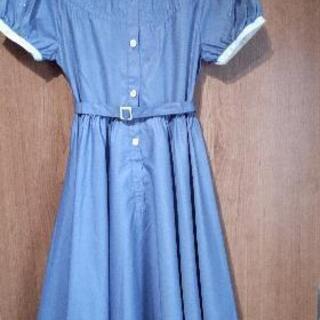 【美品・良品】女児 フレアーワンピース 👗 水色 ブルー