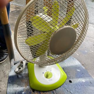 あげます さしあげます かわいいレモ ンイエロー小型扇風機