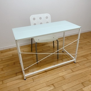 IKEA ガラスデスク チェアー セット