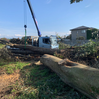 伐採、植木剪定、外構工事など