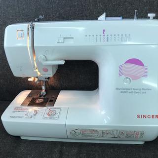 ロックカッター内蔵 SINGER家庭用ミシン SH597美品