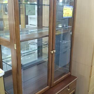 (上下分割できる)カリモク 2面飾り棚 高く買取るゾウ八幡東店