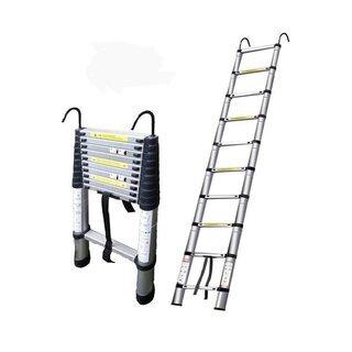 【新品未使用】伸縮はしご5M  フック付き 避難梯子