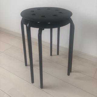 IKEA マリウススツール(黒) 2脚