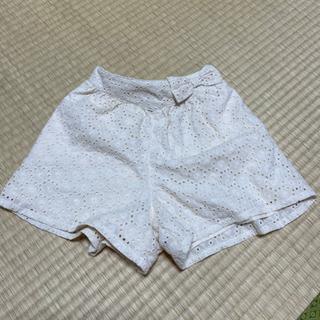 女児短パン 白レース風 美品 120
