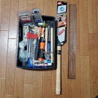 のこぎり、ネジなど工具セット