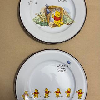 プーさんのお皿 2枚セット