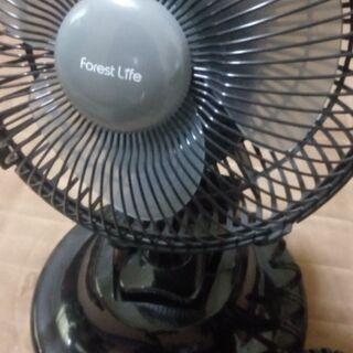 扇風機 卓上&クリップ式 黒