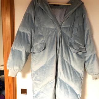 ベロアのダウンコート。Lサイズ