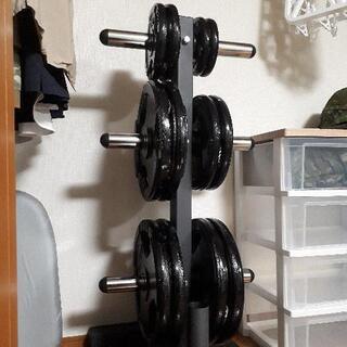 【ネット決済】オリンピックバーベルシャフト用プレートセット145kg