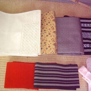 絹の帯・数本他小物