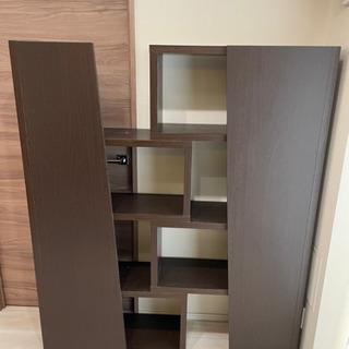 【ネット決済】幅稼働できるデザイン本棚