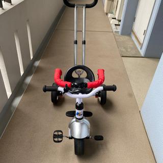 3Way 三輪車 (手押し棒 ハンドル 付き)