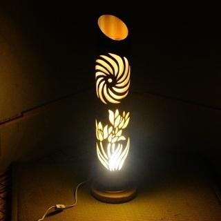 【ネット決済・配送可】竹ランプ 〜〜華流〜〜 竹灯籠 竹灯り 癒し