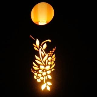 【ネット決済・配送可】竹ランプ 〜〜フラワー〜〜 竹灯籠 竹灯り 癒し