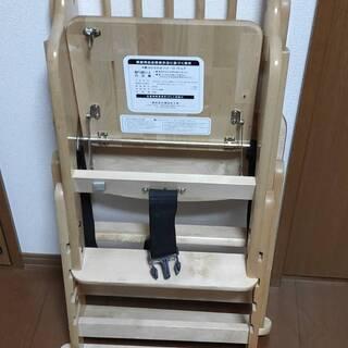 木製ベビーチェア 折りたたみ ハイ・ローチェア  5段階変更可能...