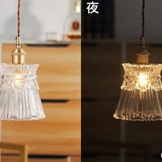 ガラスペンダントライト・灯具&LEDエジソンランプ付