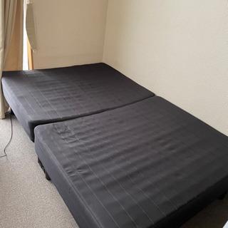 差し上げます セミダブル脚付マットレスベッド