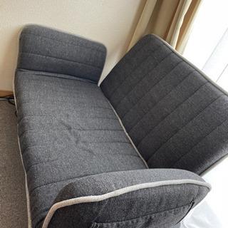 便利なリクライニング付き2人掛けソファー
