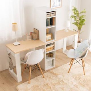 【ネット決済・配送可】お子様の勉強机、収納付き小上がり、壁面棚など