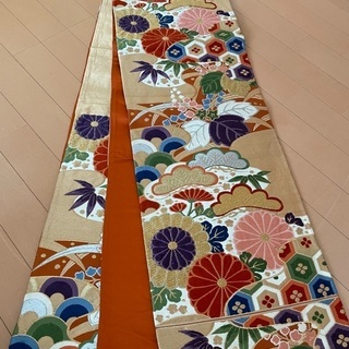6MNA917 大人気 高級袋帯 六通 キラキラ 和柄
