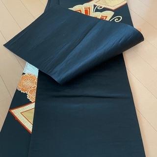 6MNA918 大人気 六通 袋帯 高級柄 ブラック 和柄