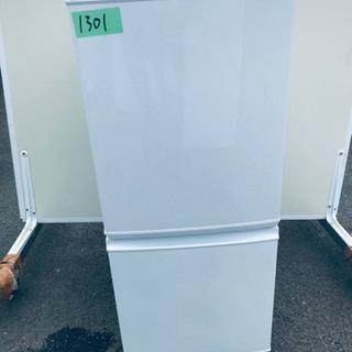 ②1301番 シャープ✨ノンフロン冷凍冷蔵庫✨SJ-D14A-W‼️