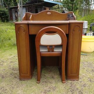 💄コンセント🔌付きドレッサー   椅子付き 引き取り限定  ⭐コ...